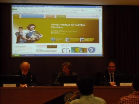 Antonio Merchán, José Fiscal y Antonio Manfredi en la presentación del Portal.
